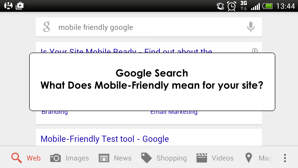 Google Mobile Search Screenshot