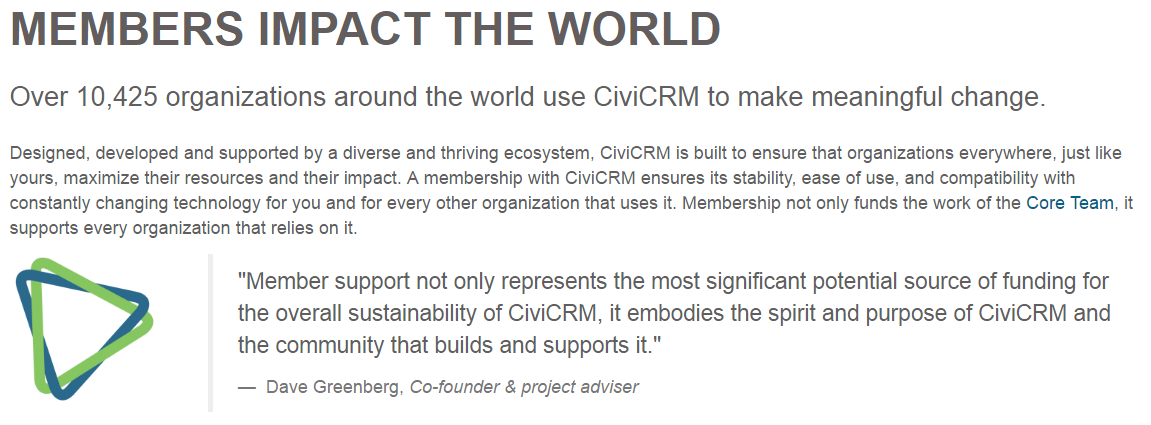 CiviCRM membership meaningful change article