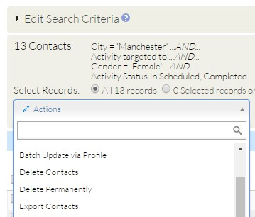 Exporting from CiviCRM Search